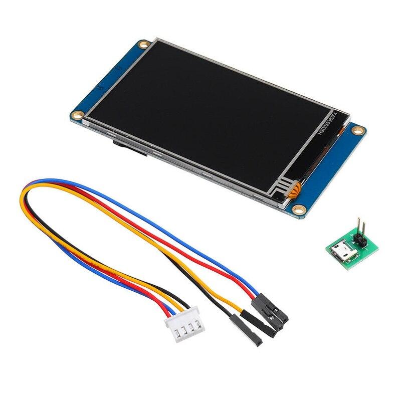 NX4832T035 HMI TFT LCD المسلسل الصحافة وحدة عرض 3.5 بوصة مقاوم الصحافة الشاشة ل التوت بي 3 اردوينو عدة