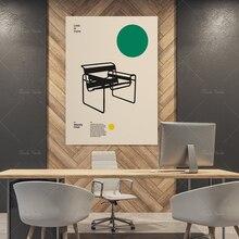 Affiche Wassily chaise, Marcel Breuer, mobilier Minimal Bauhaus Design