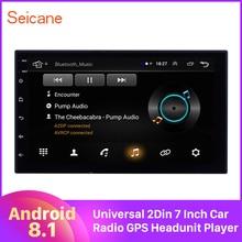 Android 8,1 Quad core RAM 1GB ROM 16GB Universal Auto Autostereo 2 Din 7 Inch Radio GPS Steuergerät spieler Spiegel link USB 3G WIFI