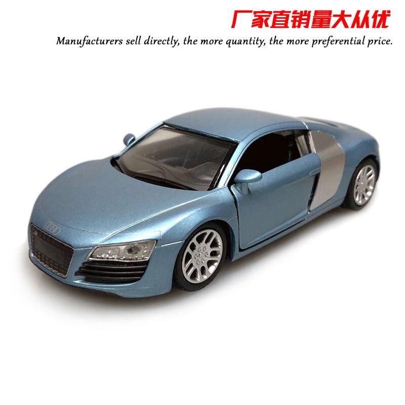 ¡Venta al por mayor! 10 unidades por lote, coche de Alemania NEWRAY 1/32, coche AUDI R8 de Metal fundido a presión de 14CM de longitud, modelo de coche de juguete