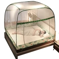 installation free mongolian bag mosquito net without bracket 1 8m bed household 1 5m drop resistant children 1 2 foldable 2 m