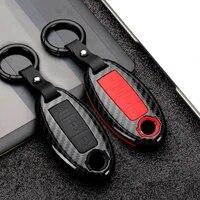 abs carbon fibersilicone car key case cover for nissan qashqai j10 j11 x trail t31 t32 kicks tiida pathfinder murano note juke