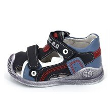 Zapatos de verano para niños Bessky/2020, sandalias de piel sintética con punta cerrada para niños pequeños, sandalias deportivas casuales y zapatos suaves