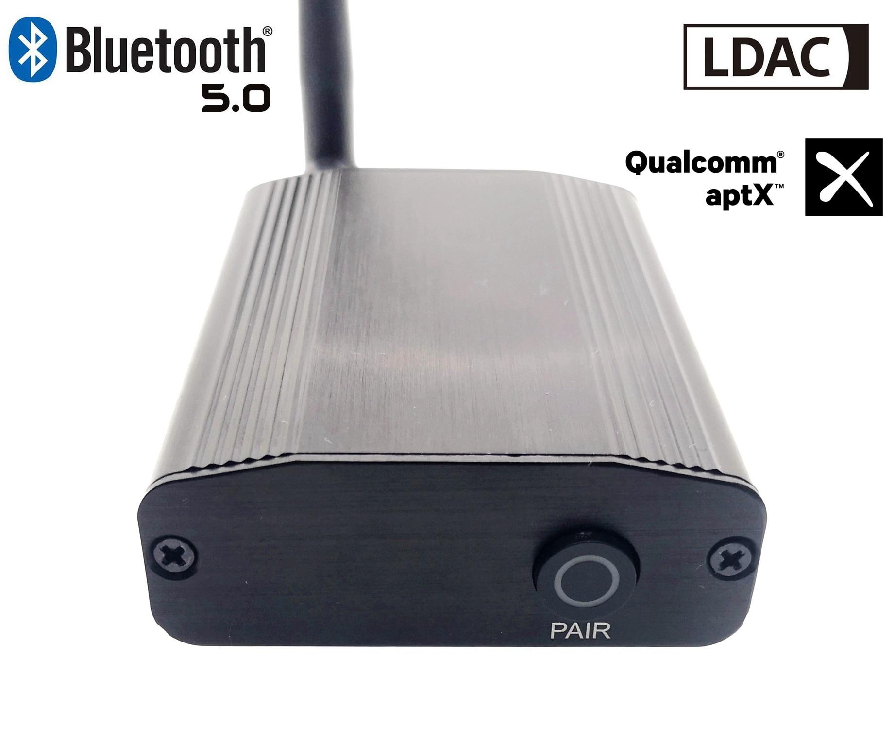 LDAC50 CSR8675-V5.0 Bluetooth tecnología LDAC aptx para 24bit/96khz Coaxial de Audio Digital óptico receptor de Audio Bluetooth 5,0