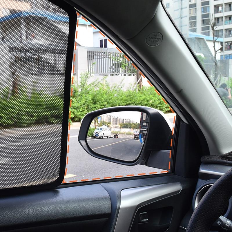 Ön arka 4 adet manyetik pencere gölgeliği perde Visor Nissan Qashqai için J10 2012 2013 yan pencere güneş şemsiyeleri Qashqai 2014 2015