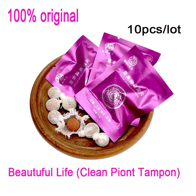 10 unids/lote tampones Beautiful life hisopo vaginal Punto Limpio tampón de toxinas...
