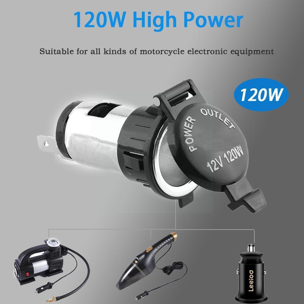 12V Car Cigarette Cigar Lighter Socket Charger Power Waterproof Outlet Supply Z6M6