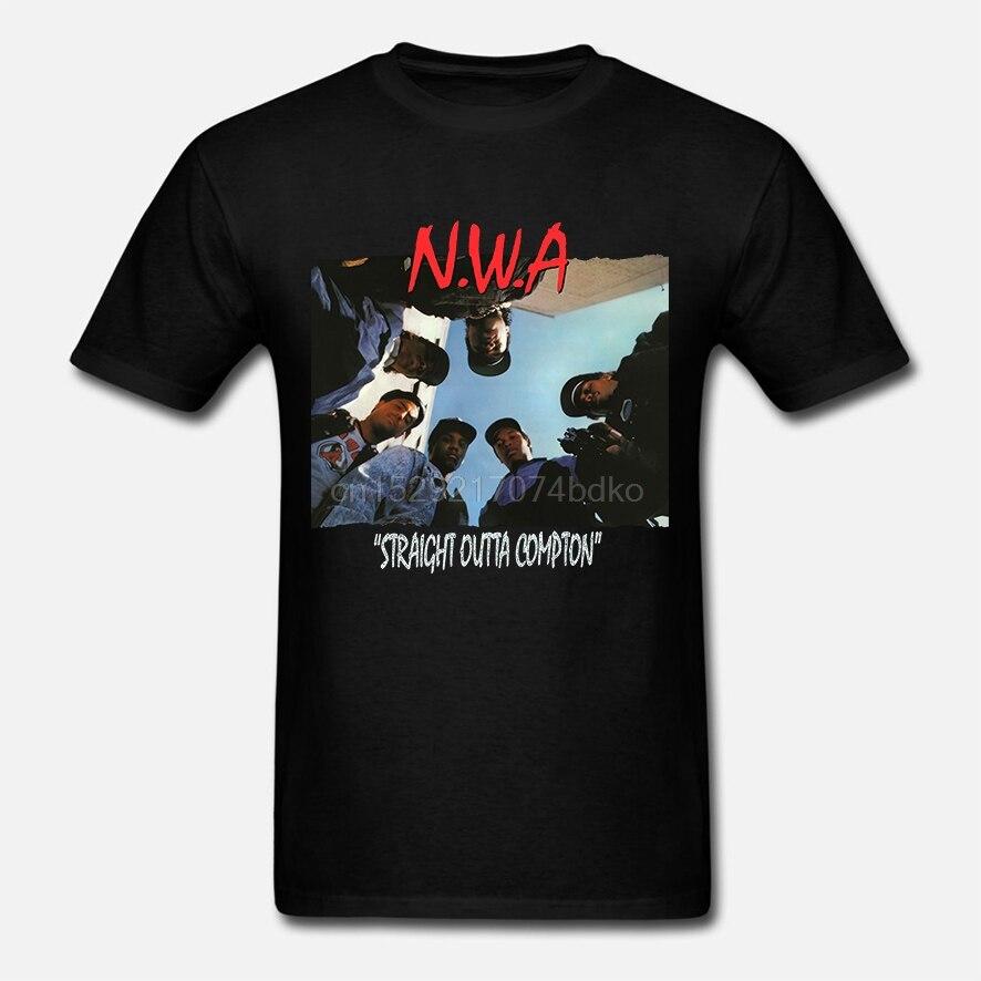 NWA T Shirt Straight Outta Compton American Rap Hip Hop hombres camiseta nueva moda para hombre Camiseta de manga corta para hombre