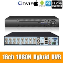 5in1 16ch * 1080N AHD DVR Überwachung Sicherheit CCTV Video Recorder HybridDVR For1080P/720 P/960 H Analog AHD CVI TVI IPcamera XMEYE