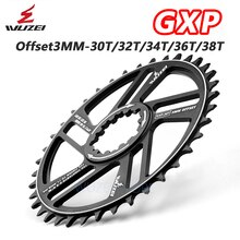 WUZEI MTB Mountainbike Kettenblatt 30/32/34/36/38/40/42T 3/6 grad Crown fahrrad Kettenblatt für Sram 11/12S NX GX GXP Kurbel