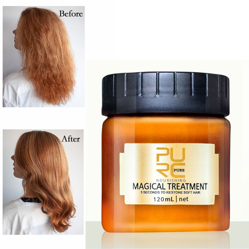 PURC 120ML Magical treatment hair mask Nutrition Infusing Masque for 5 seconds Repairs hair damage r