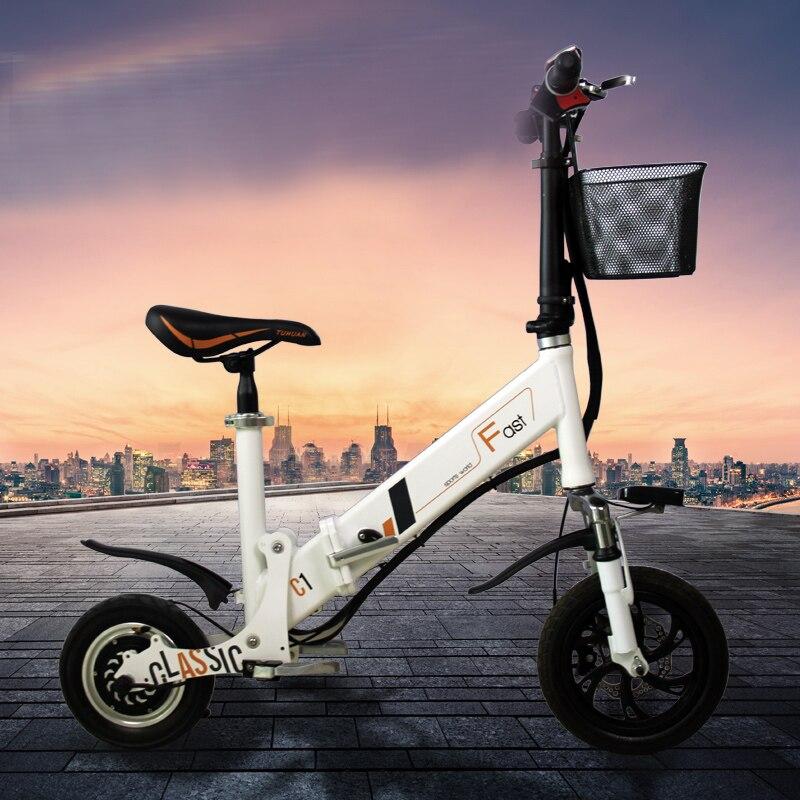 Mini Bicicleta eléctrica plegable, nuevo tipo de explosión, batería de litio, salidas...