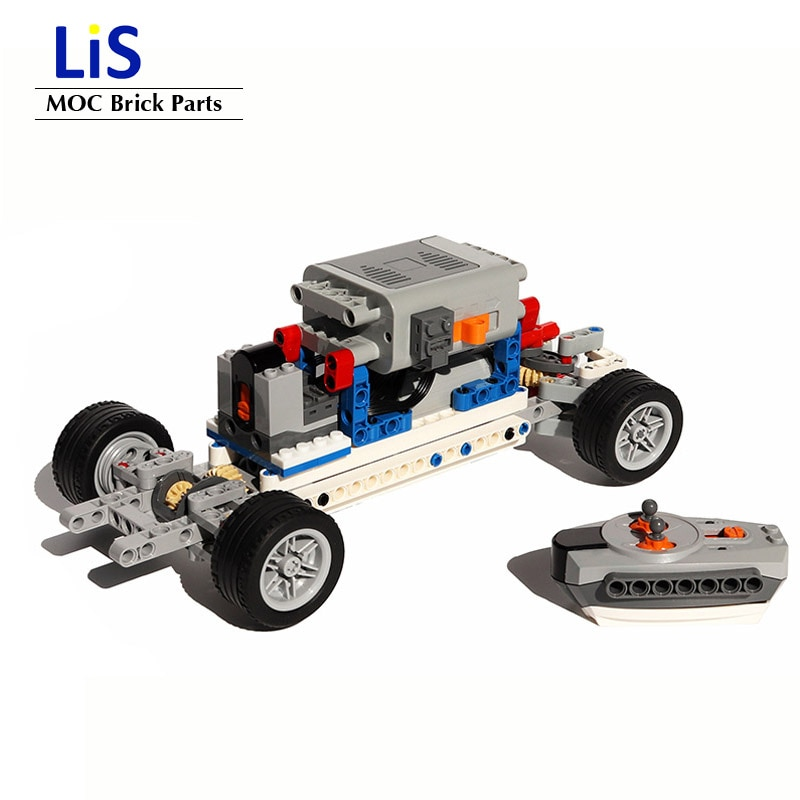 NEW Two-wheel drive 4WD SUV Off-road Vehicles Car Bhassis RC Power Functions Motors set MOC Building Blocks Bricks Bulk Kits