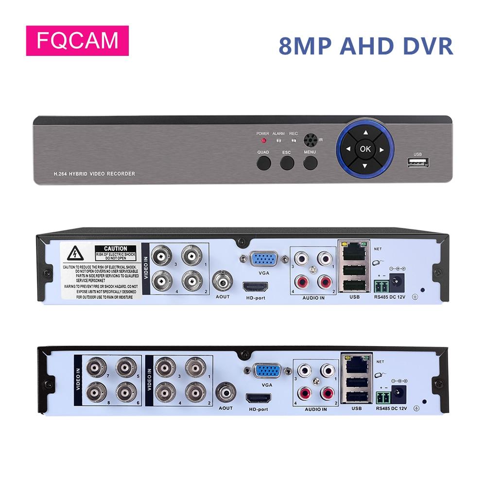 8mp ahd dvr 4ch 8ch 4k cctv câmera digital gravador de vídeo xmeye metal hybaird nvr para 8mp ahd cvi tvi cvbs cctv sistema de câmera