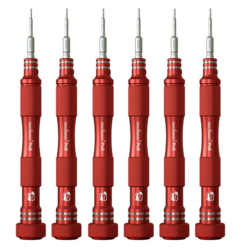 Destornillador mecánico antideslizante 0,8 Torx 0,6 tipo Y 1,2 1,5 Phillips 2,5 T2 para herramienta de reparación de cámara de teléfono móvil