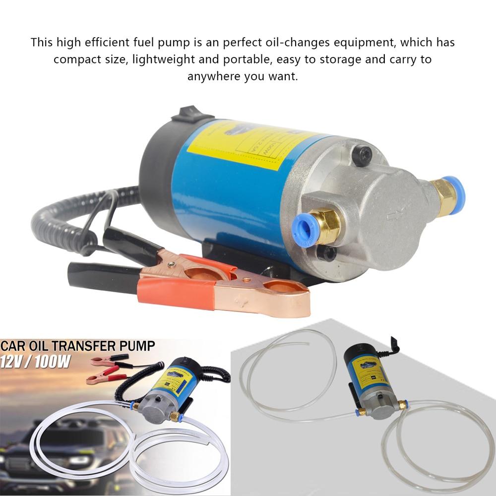 new arrival high flow 13l min 12v dc 80w electric oil suction pump 1-4L/min Oil Transfer Pump 12V 100W Portable Electric Oil Transfer Extractor Fluid Suction Pump Siphon Tool for Car Motorbike