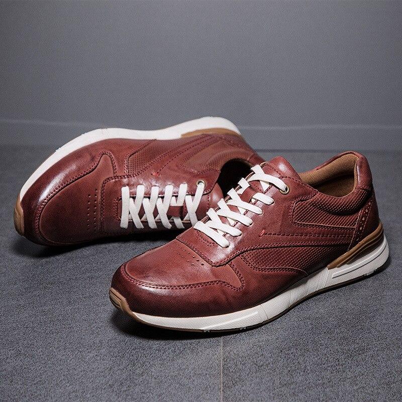 ماركة الرجال حذاء كاجوال جلد أصلي للرجال الشقق لينة أكسفورد أحذية عالية الجودة في الهواء الطلق أحذية الرجال أحذية رياضية Zapatos دي Hombre