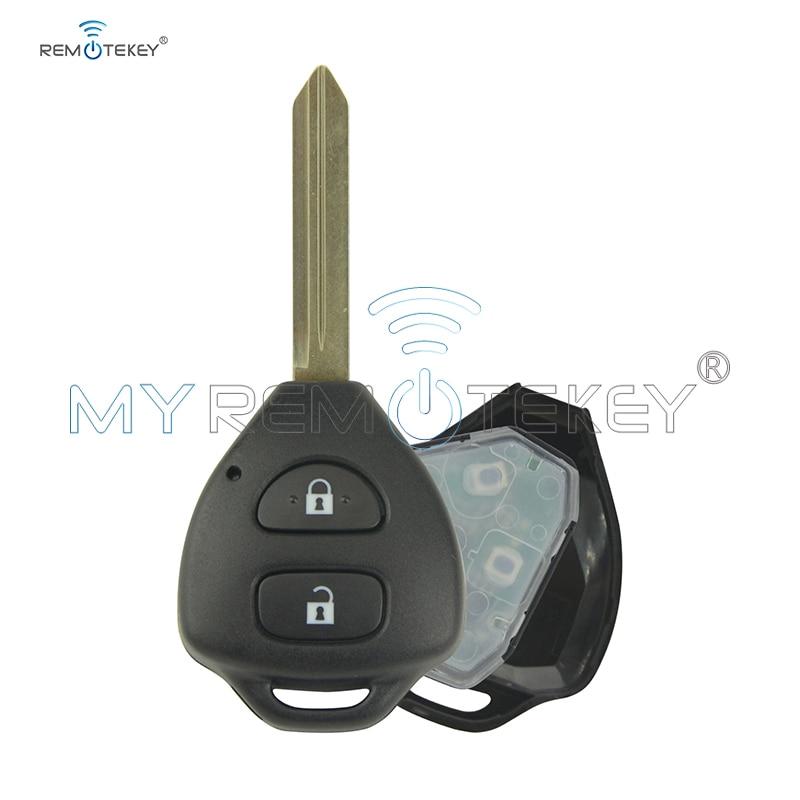 Remtekey Remote Key Voor Toyota Auris Corolla Verso Yaris 2 Button 434Mhz Toy47 Met 4D67 Chip 2009 2010 2011 2012 2013 Autosleutel