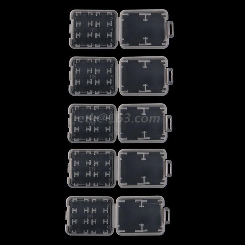 ¿Caja de almacenamiento de 8 en 1 de plástico transparente... funda para...