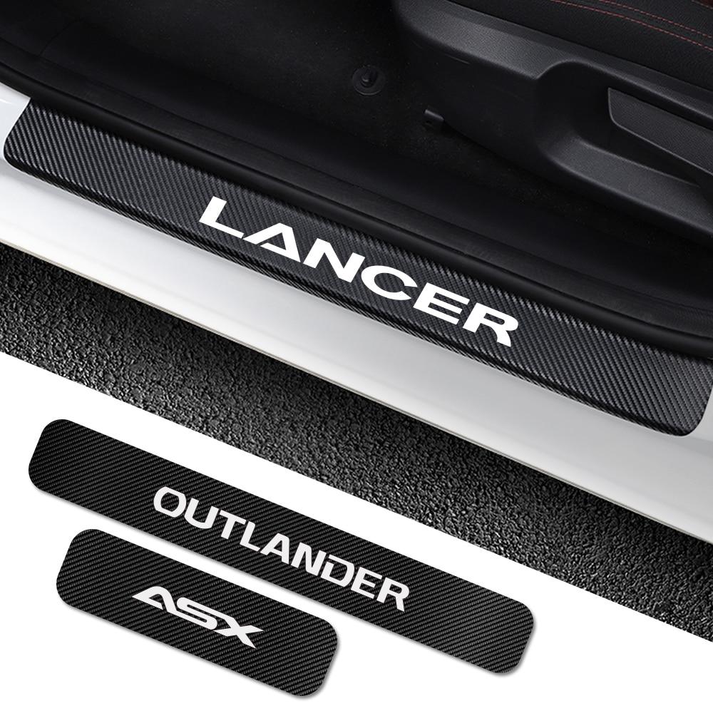 Для Mitsubishi Lancer 10 3 9 EX Outlander 3 ASX L200 Ralliart Competition 4 шт. наклейки на порог автомобиля аксессуары для настройки