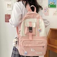 est patchwork casual backpack women shoulders bagpack girls preppy schoolbag back pack cute female book travel mochila mujer bag
