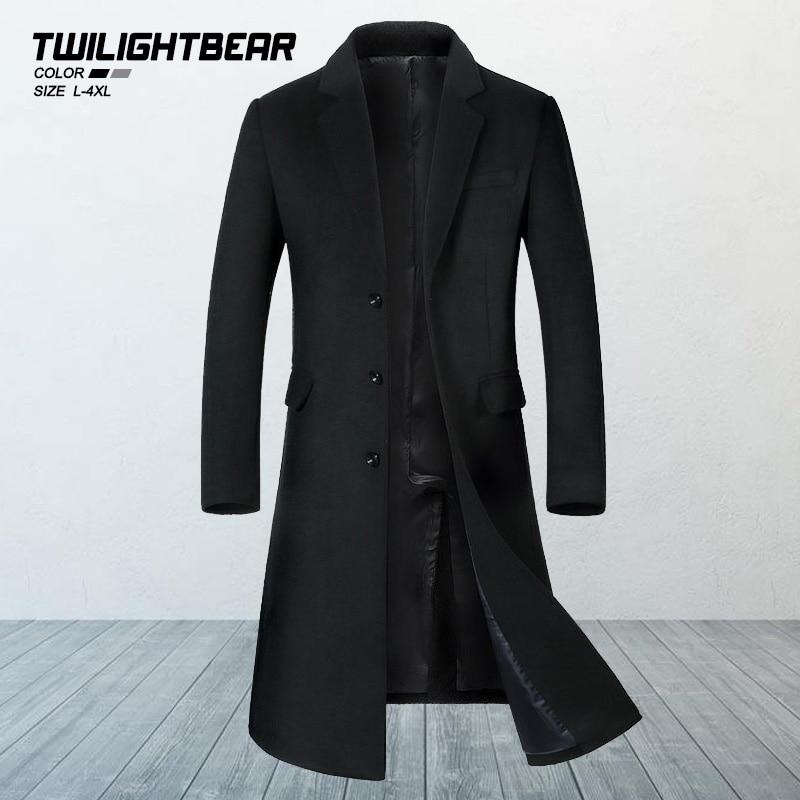 Новинка, длинное мужское шерстяное пальто, зимняя куртка, Высококачественная уличная Шерстяная парка, пальто, Мужская одежда, Casaco Masculino BY1810