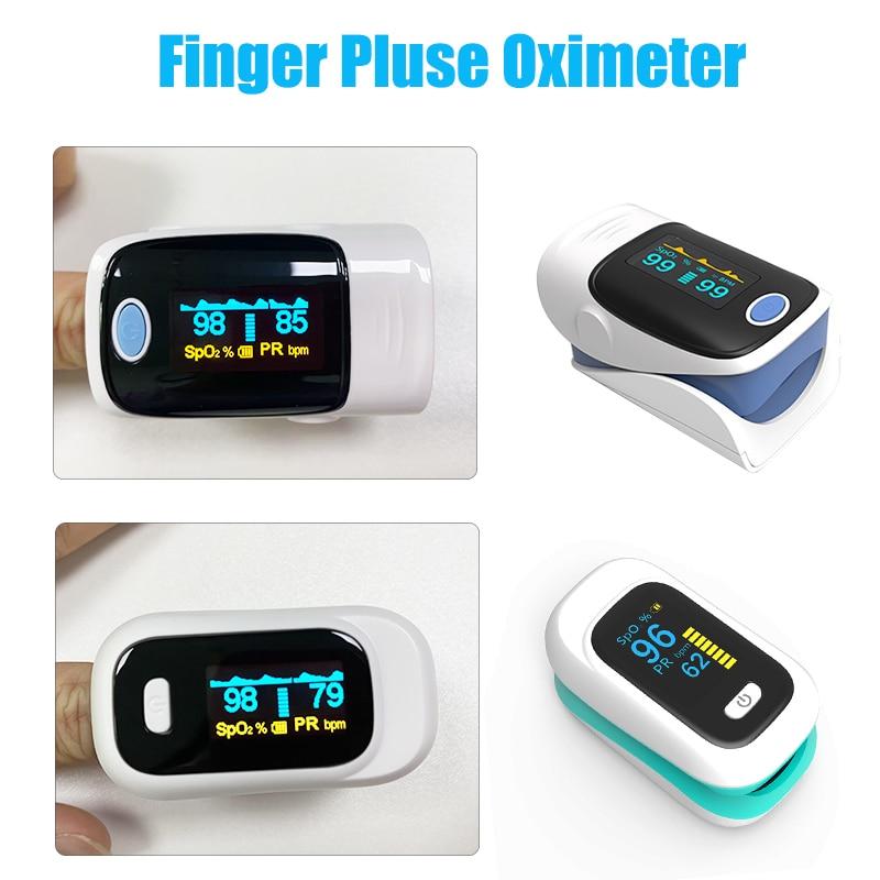 SpO2 Pulse Oximeter Portable Finger OLED Oximeter Heart Rate Monitor Blood oxygen Saturation Meter Household Health Monitors