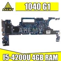 akemy for hp elitebook folio 1040 g1 laptop motherboard i5 4200 739579 001 48 4lu01 011 12295 1 motherbard 739579 601 739579 501