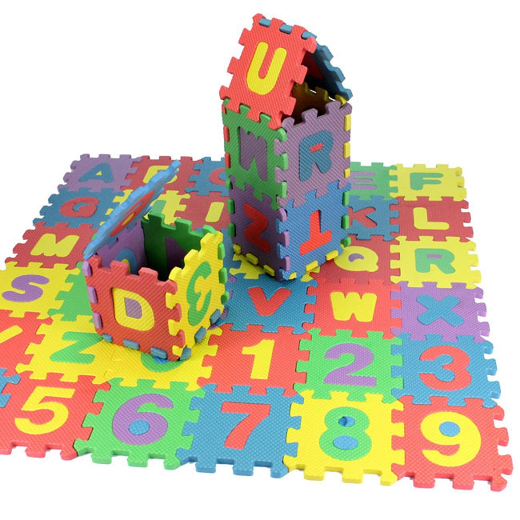 New 36pcs Baby Child Number Alphabet Puzzle Foam Mats Educational Toy Gift Parent-child Interactive Educational Toys Игрушки