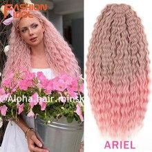MODE IDOL Weiche Wasser Welle Twist Häkeln Haar Synthetische Braid Haar Ombre Blonde Rosa 22 Zoll Tiefe Welle Flechten Haar erweiterung