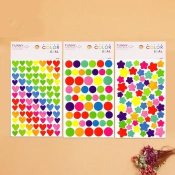 6 Sheets/lot Cute Kawaii Sticker For Photo Album Decoration Lovely Heart 2