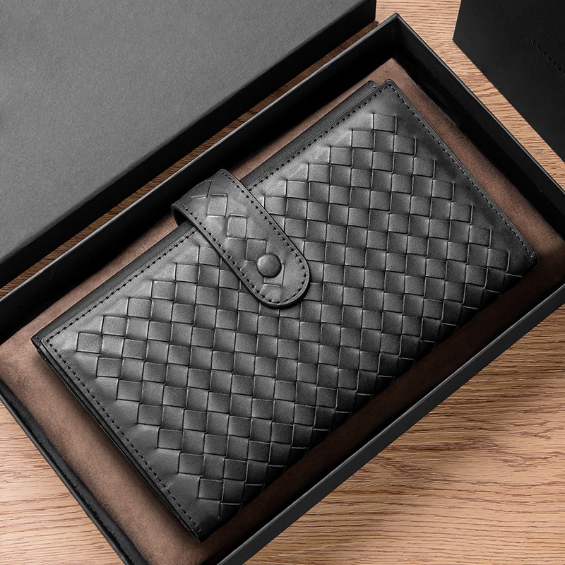 Men's Leather Large Capacity Long Business Multi-Function Storage Wallet Minimalist Card Holder Luxury Brand 2021 Fashion New