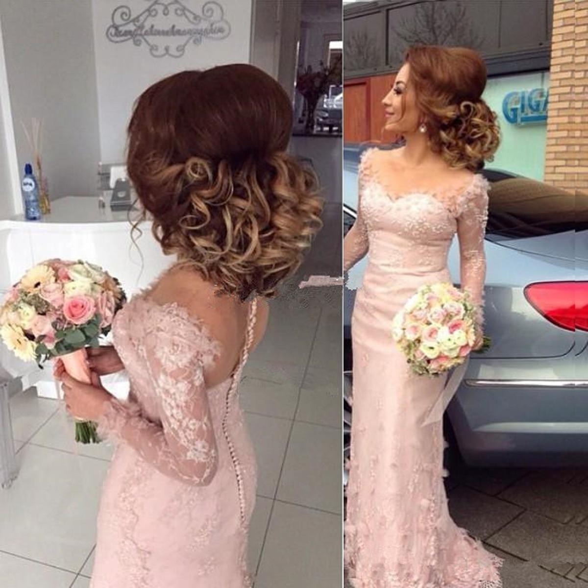 Vestidos de novia de manga larga, vestido de novia con cuentas de encaje de sirena y corazón, vestidos de novia para fiesta, vestido de novia