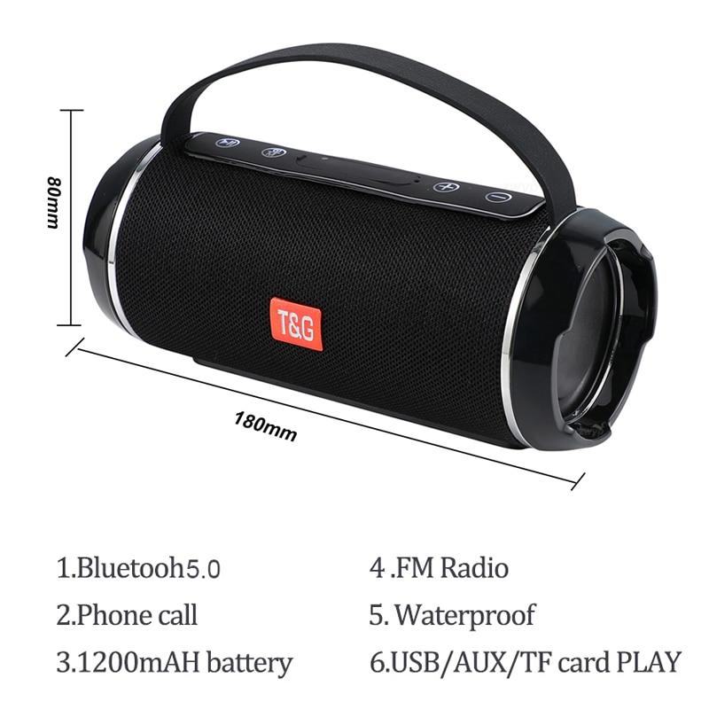 مكبر صوت بلوتوث خارجي عالي الطاقة TG 116C ، مكبر صوت ، مضخم صوت ، TWS ، مقاوم للماء ، محمول ، نظام مركز الموسيقى ، عمود مكبر صوت ثلاثي الأبعاد ، 40 وا...