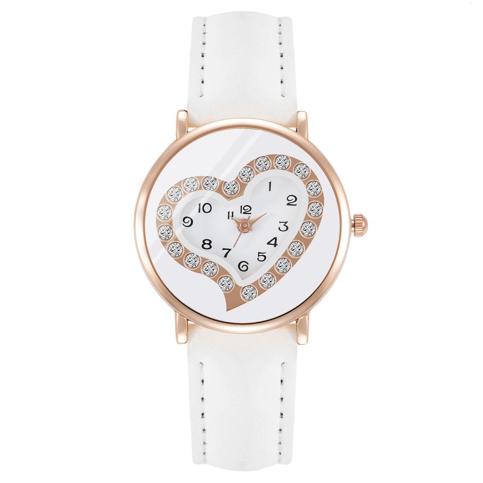 Women Lover Dial White Leather Watches Trend Style Korean Wave Classic Women Watch Top Brand Waterproof Watch часы женские rosenthal classic watch collection часы наручные asymetria rosegold white metal