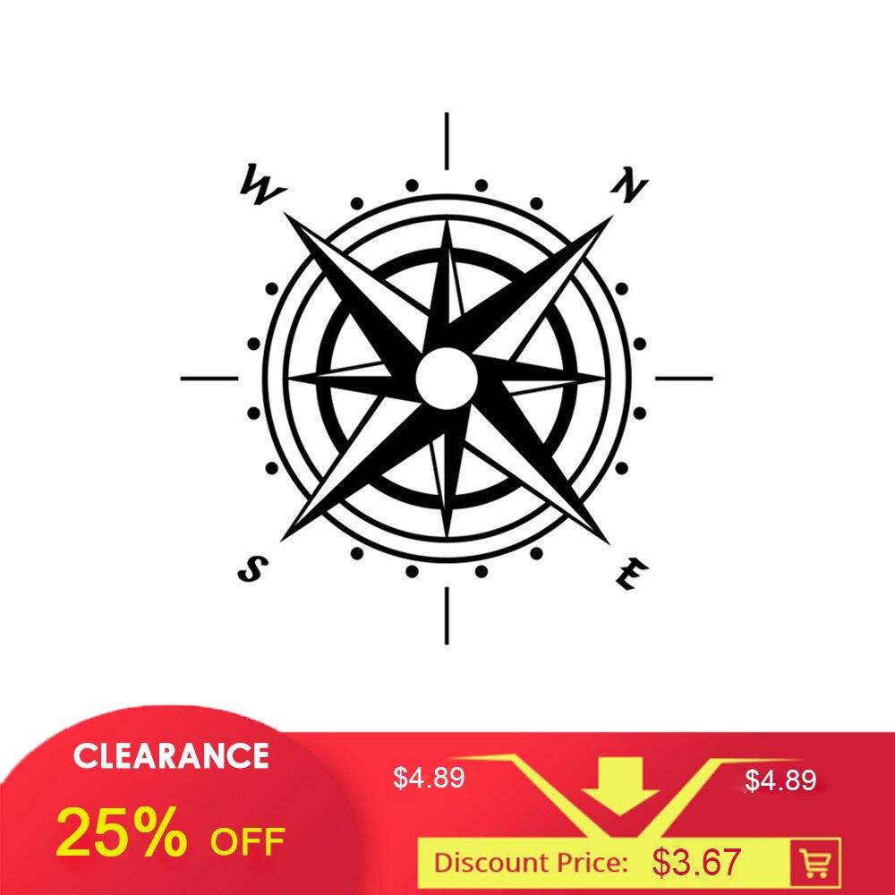 1 Pc 30cm*30cm Car Stickers Compass Decal Hood Graphic vinyl Art Design Decals Black Car Body Glue Sticker Wrap