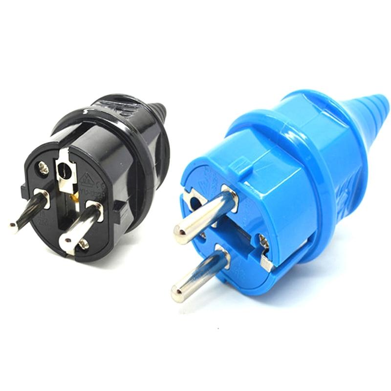 Синий и черный 2p elcectric AC 16A, европейская, немецкая, французская, промышленная, водонепроницаемая, с заземлением, кабель питания, вилка, Франци...