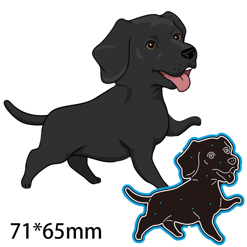 71*65mm Dog with Tongue Out Cutting Dies DIY Scrap Booking Photo Album Embossing Paper Cards