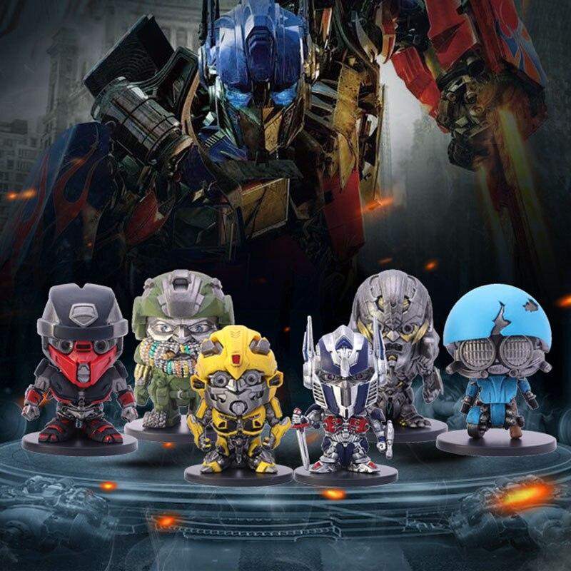 Hasbro muñeco de acción figura caja ciega Transformers coche Robot juguetes Bumblebee sqwears Megatron Hound