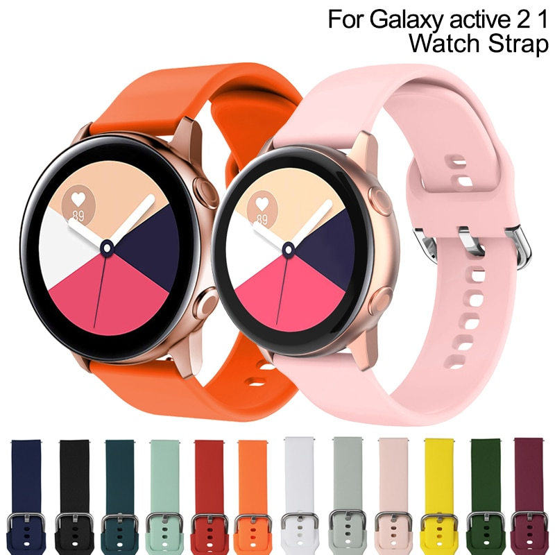 New Strap For Samsung Galaxy Watch Active 2 40 44mm 3 Gear sport wrist bracelet Replacement watchband 20mm Watch strap band