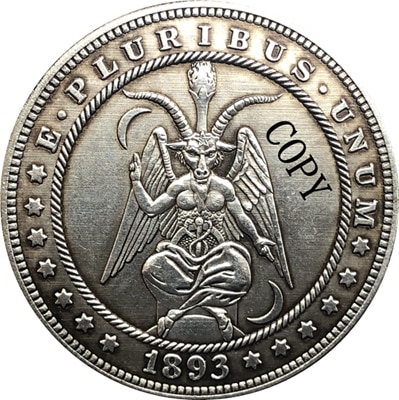 Хобо никель 1893-S сша Морган доллар Монета КОПИЯ Тип 160