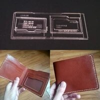 1set diy acrylic leather template home handwork leathercraft sewing pattern tools accessory wallet 110x95x10mm