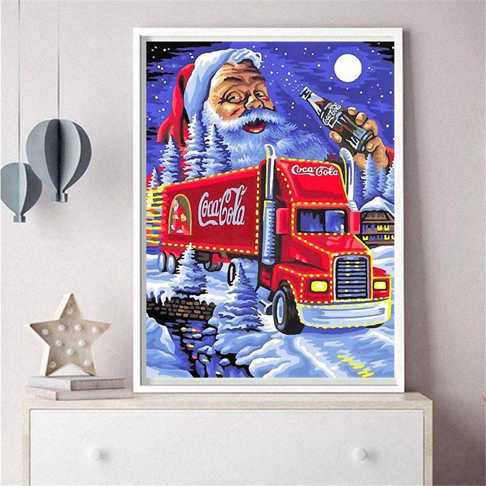 Diamond Painting Christmas Gift  5D DIY Diamond Painting Cartoon Car Santa ClausFull Diamond Home Decor