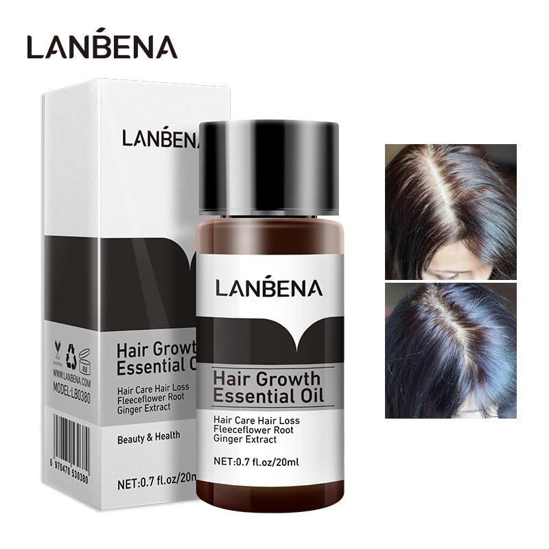 LANBENA jengibre aceite esencial para el crecimiento del cabello Anti-pérdida de cabello nutre las raíces del cabello para fortalecer la pérdida de cabello Serum producto de regeneración del cabello
