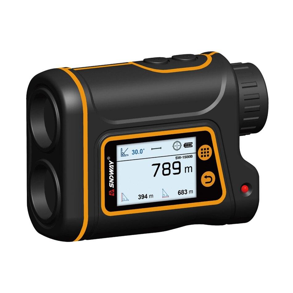 SNDWAY lazer telemetre teleskop avcılık için Golf spor anketi 800M/1000M/1500M monoküler Trena telemetre mesafe ölçümü