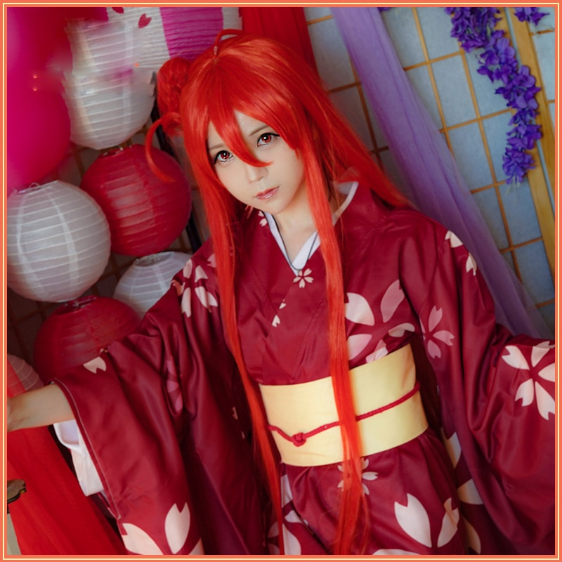 Anime Shakugan No Shana Cosplay traje de las mujeres de Año Nuevo rojo uniformes tipo Kimono de Halloween Navidad elegante Carnaval de lujo trajes de fiesta