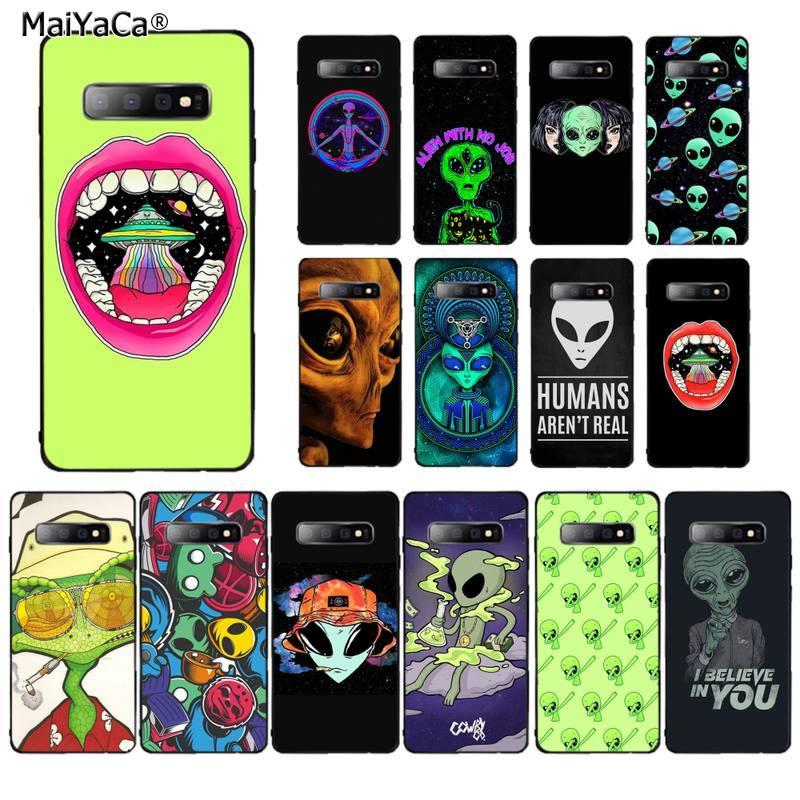 MaiYaCa Trippy Tie Dye Peace Alien funda de teléfono para Samsung S20 plus UlTRA S10 plus S8 S9 plus S7 edge S10 lite S10 5G
