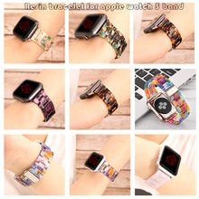 Resin bracelet for apple watch 5 band 44mm iwatch 42mm Series 5 4 3 2 1 strap Wrist Accessories loop