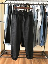 2020 İlkbahar yaz kadın Logo naylon havlu kumaş karışık Patchwork işlemeli mektup pantolon siyah pantolon A2