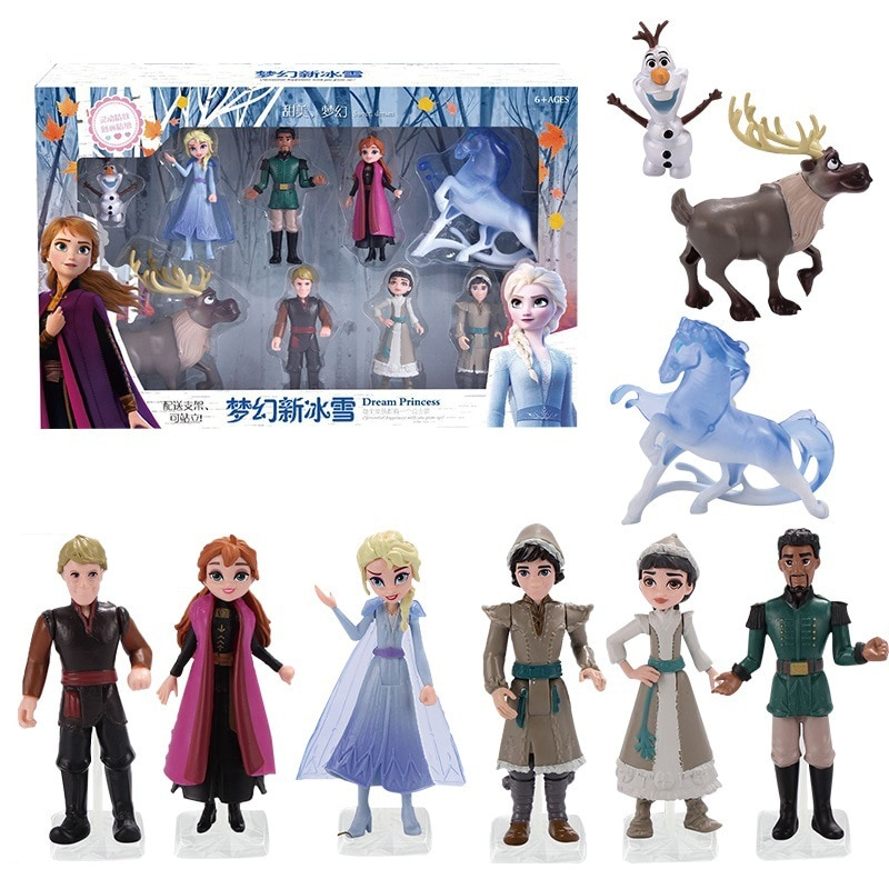 Figuras de acción de Frozen 2 de Disney, la reina de las Nieves, Elsa, Kristoff, Sven, Olaf, modelos de muñecas en Pvc, colección de cumpleaños, regalo, Juguetes